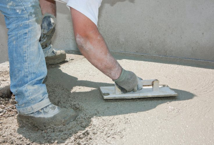 This is a picture of a concrete paving.